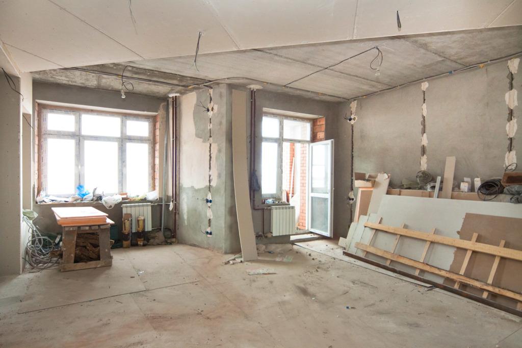 Начало ремонта в новостройке, Крым